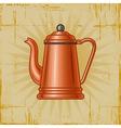 Retro Coffee Pot vector image