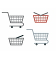 Shopping Cart and Basket vector image