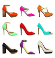 woman high heel shoes set vector image