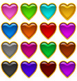 colorful icons hearts set vector image
