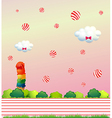Floating candies vector image