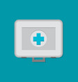 flat first aid kit isolated on color background vector image