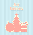 Retro style Christmas decoration vector image vector image