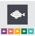 Fish icon vector image