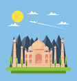 Flat design of Taj Mahal vector image