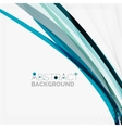 Blue wave abstract background vector image vector image