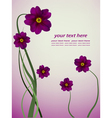 floral poster vector image vector image