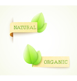 set of two paper labels vector image