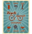 Bicycle parts poster vector image