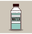bottle water design vector image