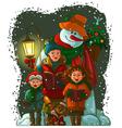 christmas choir vector image