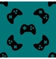 Gaming Joystick web icon flat design Seamless vector image