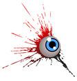 grunge eye vector image