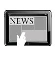 news on a tablet vector image