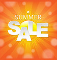 summer sale banner with sun vector image