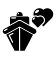 travel journey honeymoon trip icon simple style vector image