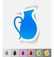 realistic design element jug vector image