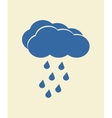 Blue cloud with falling rain vector image vector image