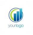 business finance logo vector image