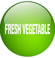 fresh vegetable green round gel isolated push vector image