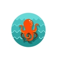 Octopus icon Summer Vacation vector image
