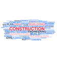 Building construction and civil engineering vector image