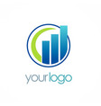 business finance logo vector image