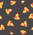 colorful seamless pattern with delicious pepperoni vector image