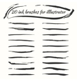 ink brushes set Grunge brush strokes vector image