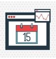 page web internet calendar vector image