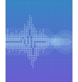 Round cold pulse background vector image