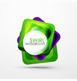 square swirl abstract banner vector image