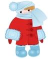 Cartoon kid in red vector image vector image
