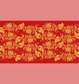 hohloma waves seamless fabric texture vector image