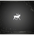Grunge black reindeer background vector image vector image
