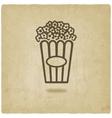 popcorn old background vector image