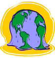 melting earth vector image