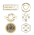 Set of vintage retro handmade badges labels and vector image