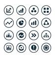 diagram icons universal set vector image