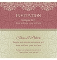Baroque invitation pink and beige vector image