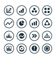 diagram icons universal set vector image