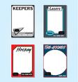 Hockey Cards vector image