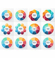 infographics set Collection of templates vector image
