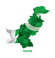 Map of Pakistan vector image