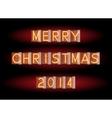 Merry Christmas 2014 vector image