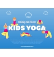 Training and classes kids yoga banner vector image