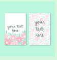 two cute invitation templates vector image