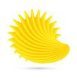 yellow shell on white vector image