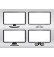 Design computer monitors set vector image