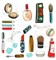 Makeup Set Colorful Drawing vector image